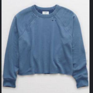 Aerie Sunday soft distressed crew sweatshirt